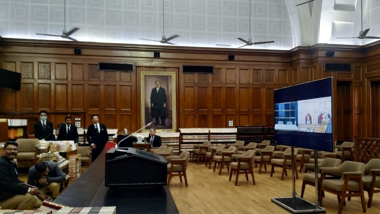 Justice D.Y. Chandrachud Conducts E-Meeting on Video-Conferencing in Courts