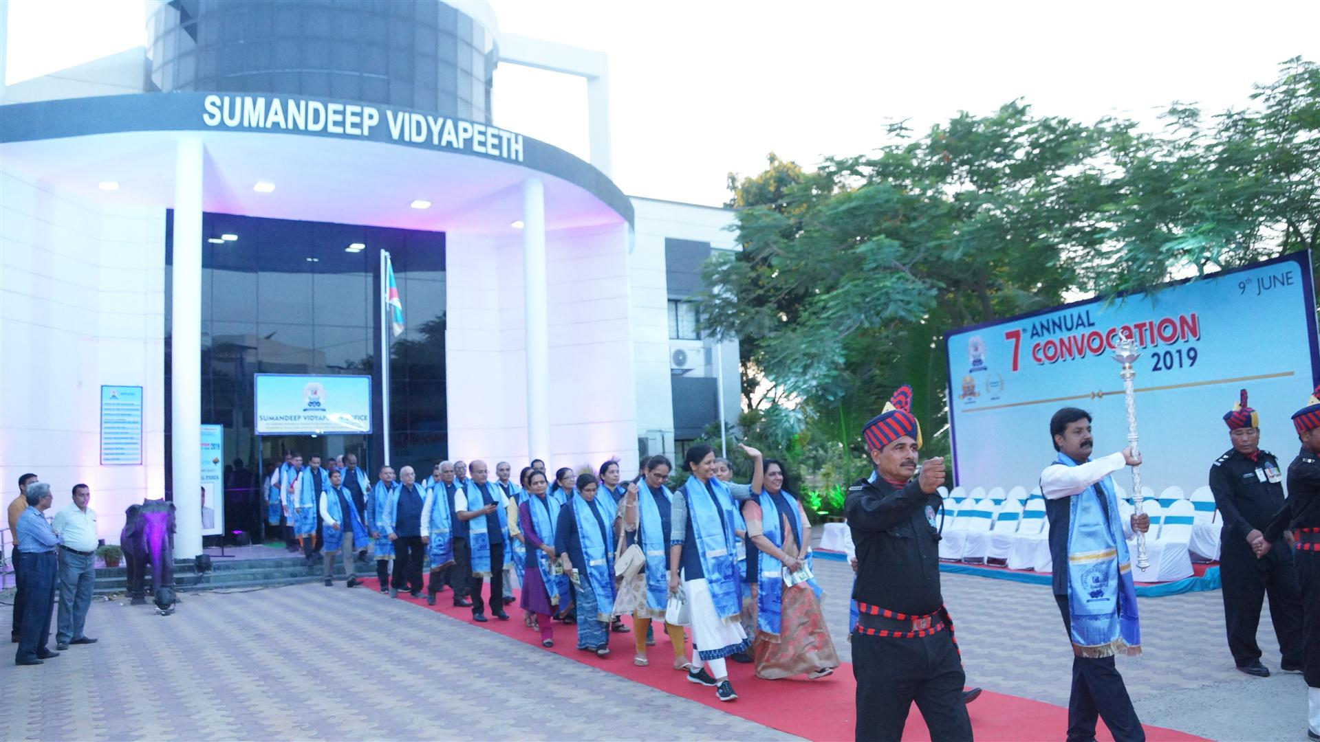 The trustees of the deemed university, namely, 'Sumandeep Vidyapeeth' were sued on allegations under the Prevention of Corruption Act.
