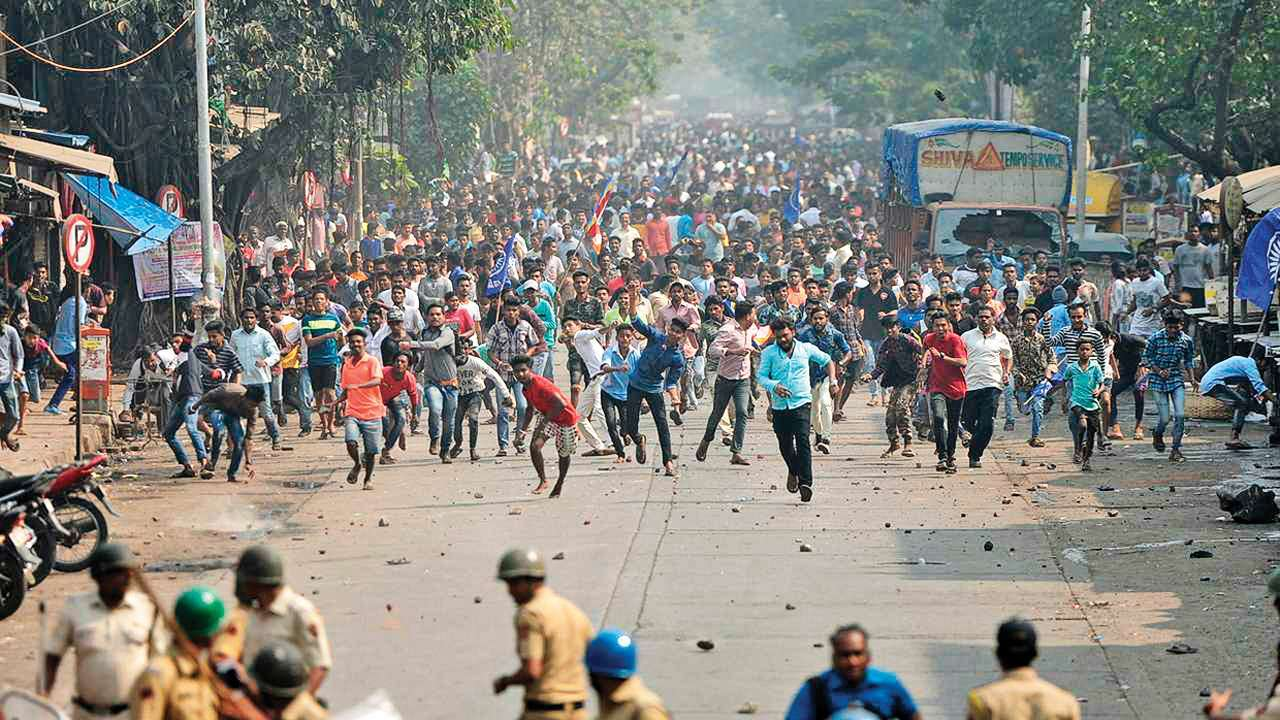 2018 Bhima Koregaon violence refers to attack on visitors during an annual celebratory gathering at Bhima Koregaon to mark the 200th year of the Battle of Bhima Koregaon victory.