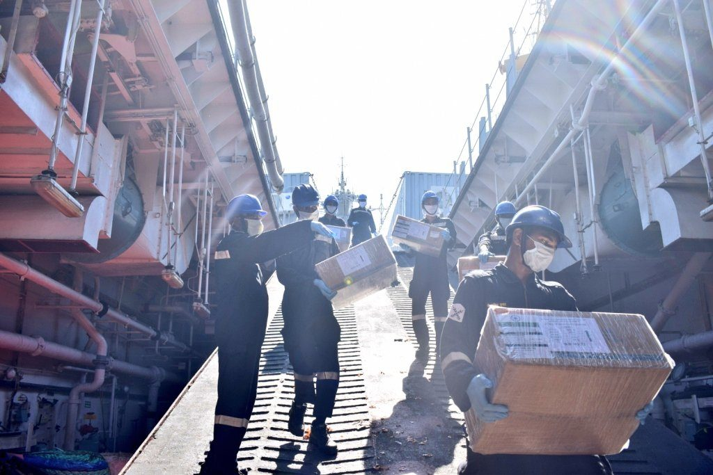 Indian Naval Ship Kesari was sent to Maldives, Mauritius, Madagascar, Comoros and Seychelles, carrying on board two Medical Assistance Teams, consignments of Covid related essential medicines and essential food items.