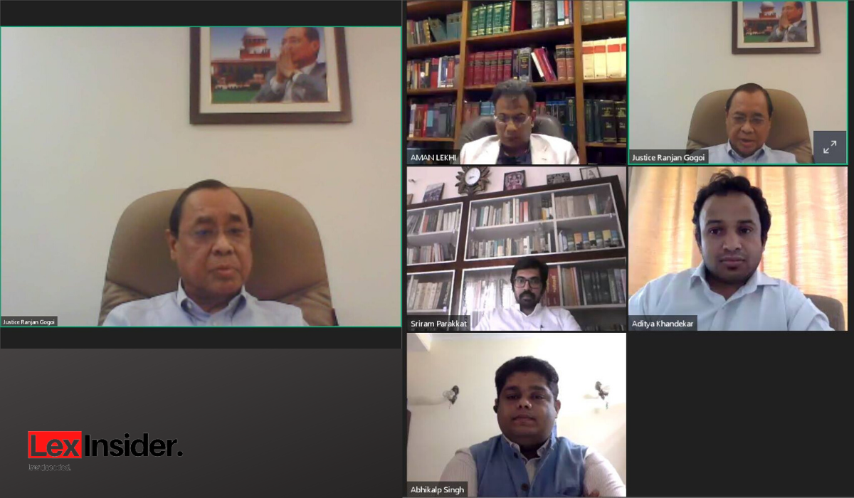 Former CJI Ranjan Gogoi gave a Keynote Address in a Webinar hosted by the Confederation for Alumni for National Law Universities (CAN Foundation).