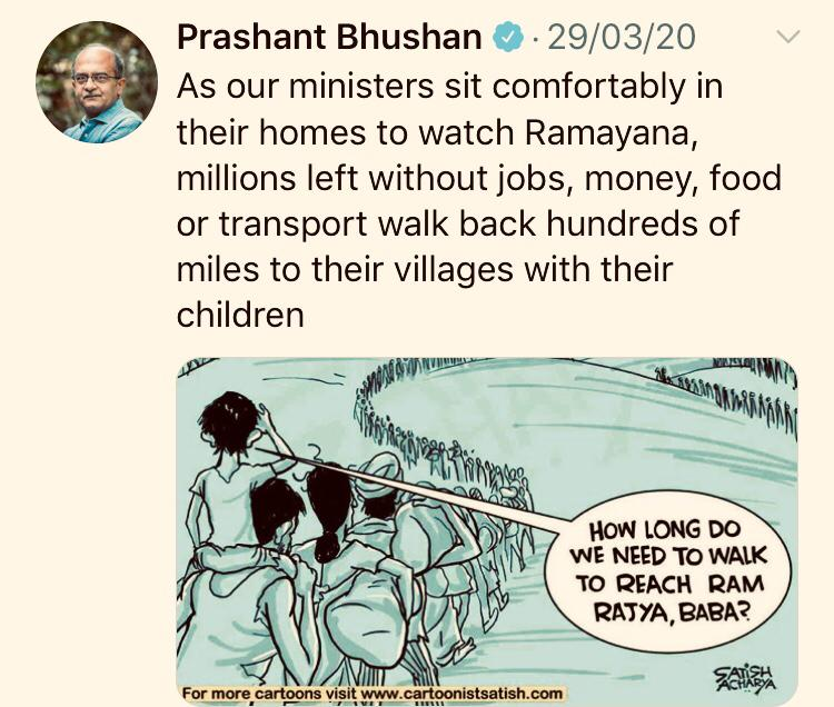 The complainant in the FIR alleged that Prashant Bhushan hurt the religious sentiments of people by his tweet dated March 29, 2020.
