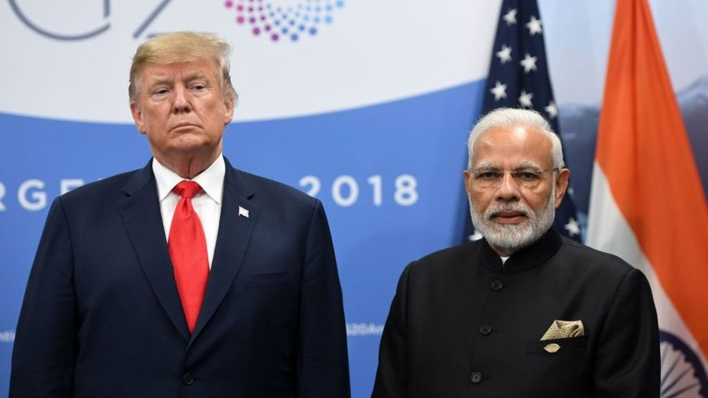 Prime Minister Narendra Modi exchanged views regarding the COVID-19 pandemic with United States President Donald Trump in a telephonic conversation.