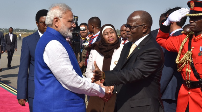 PM Modi restated India's commitment to partnering with Tanzania in its development journey.