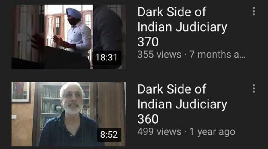 The clerk created a YouTube account wherein he posted videos bashing sitting judges.